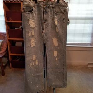 Seven 7 cropped destructed jeans